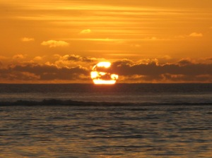 Sunset in Rarotonga. Photo by Kimberley (c)2009